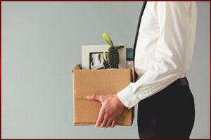 Коробка с вещами из офиса