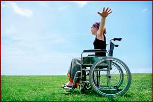 Инвалид на природе