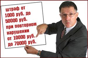 Возможные штрафы за задержку з/п