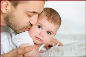 Папа и младенец