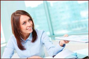 Девушка на работе
