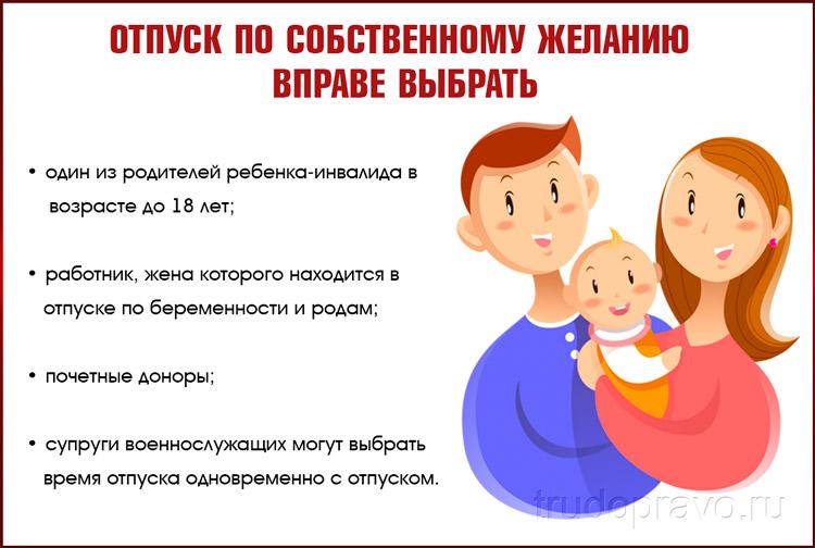 Отпуск для родителей