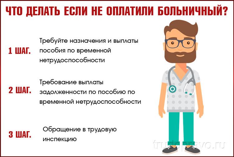 Неоплаченный больничный