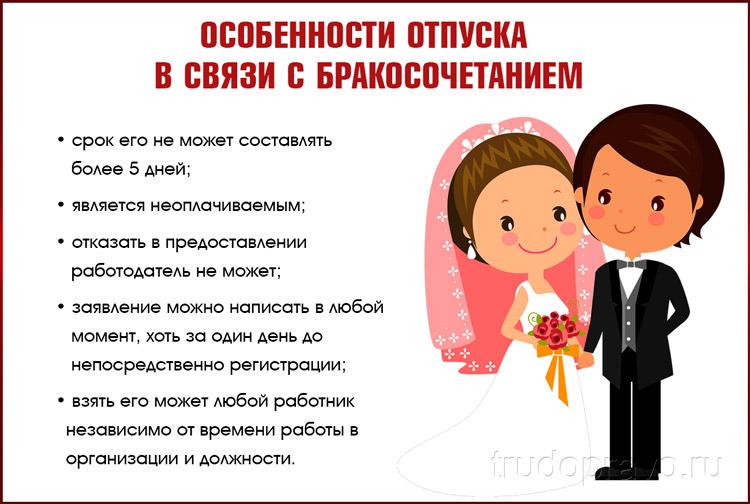 Отпуск на свадьбу