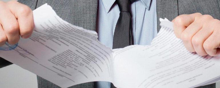 Специфика расторжения договора подряда