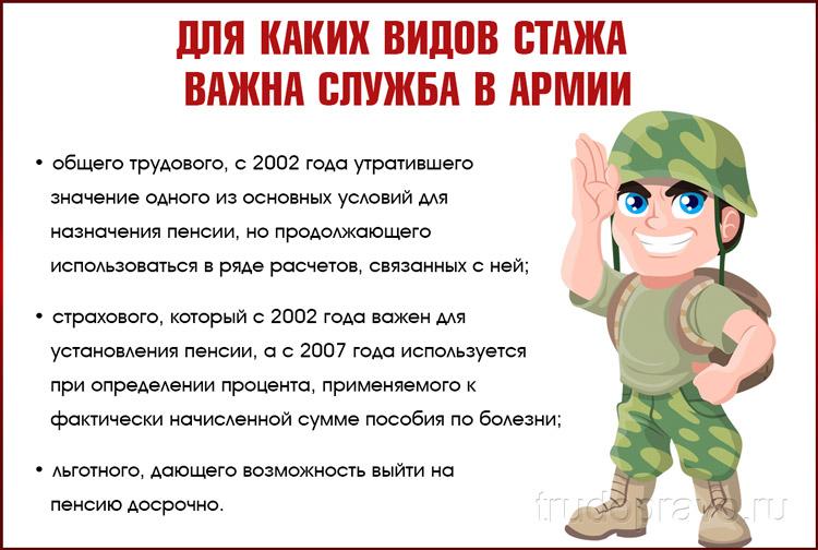 Стаж в армии